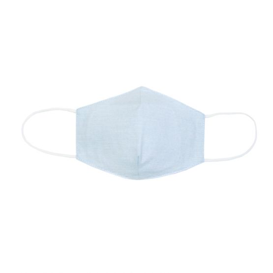Personalisable Reusable Kids & Adult Mask in Blue Linen