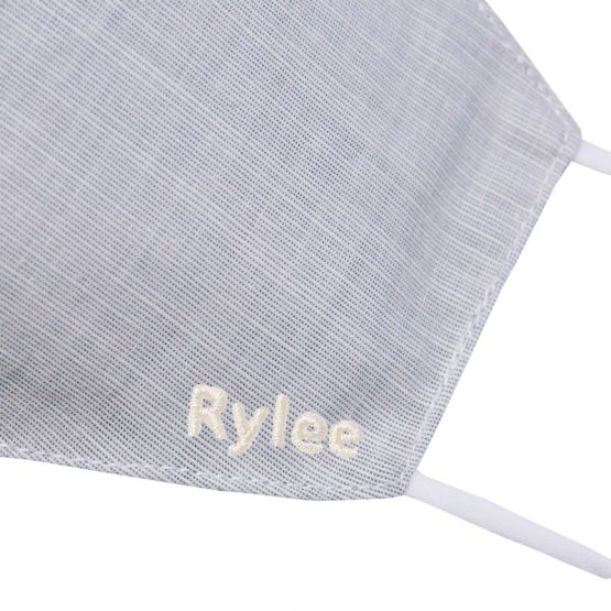 Personalisable Reusable Kids & Adult Mask in Dove Grey Linen
