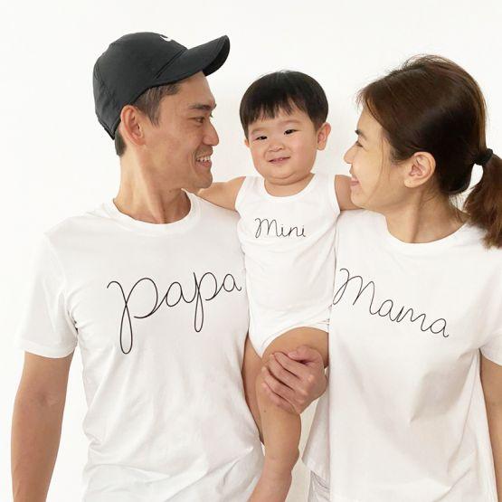 *Bestseller* Papa Tee in White/Black