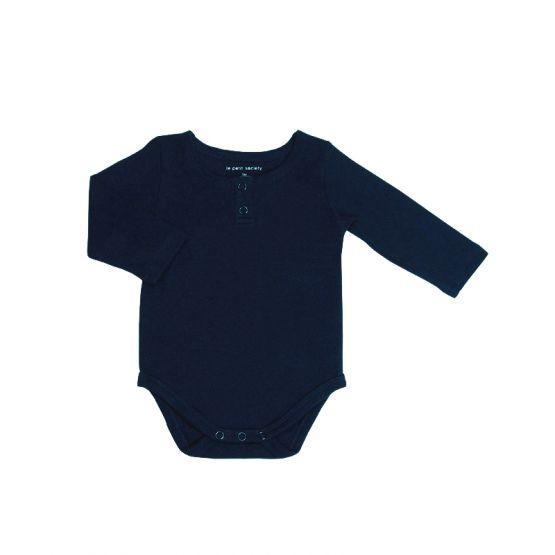 *Bestseller* Personalisable Long Sleeves Navy Baby Onesie