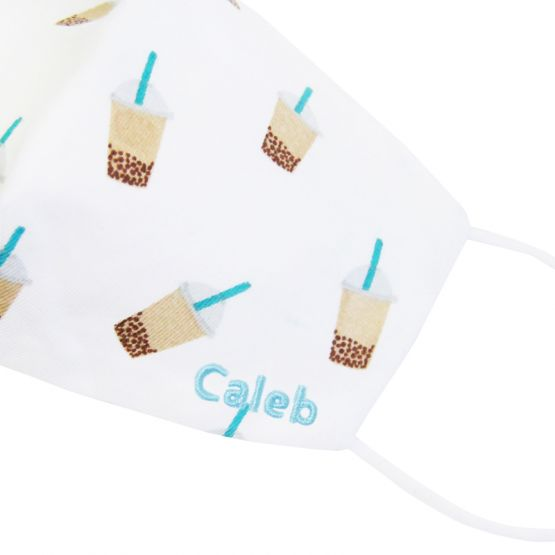 Personalisable Reusable Kids & Adult Mask in Bubble Tea Print