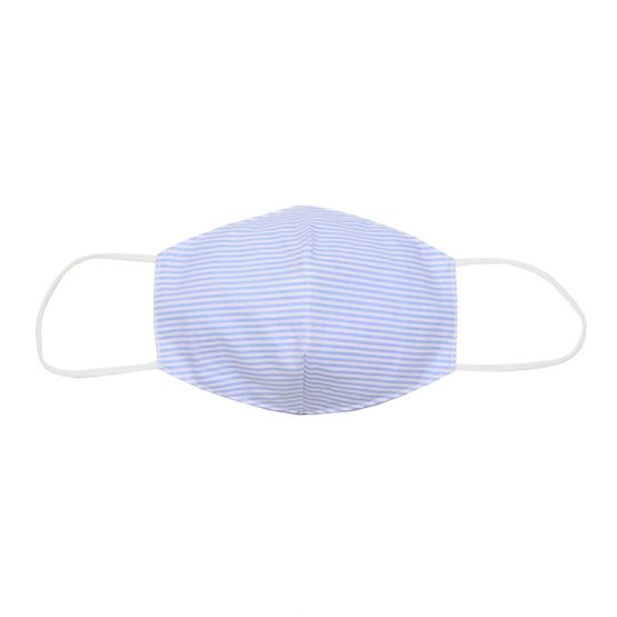 Personalisable Reusable Kids & Adult Mask in Light Blue Stripes