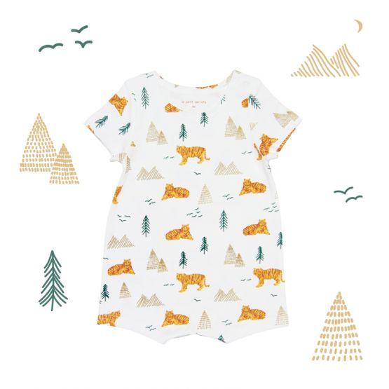 Baby Romper in Tiger Print