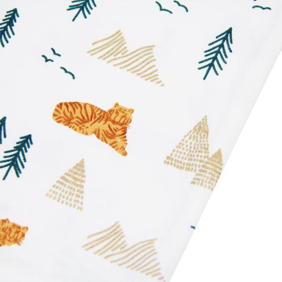 Baby Girl Romper in Tiger Print