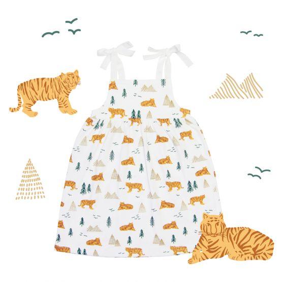 Girls Dress in Tiger Print