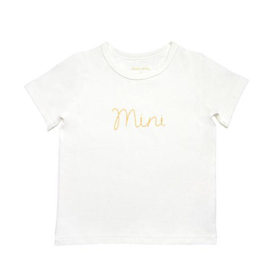 *Bestseller* Mini Kids Tee in White/Gold