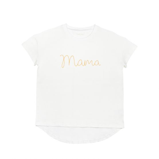 *Bestseller* Mama Tee in White/Gold