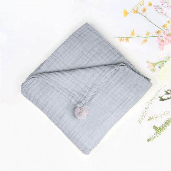 *Bestseller* Personalisable Keepsake Baby Blanket in Grey