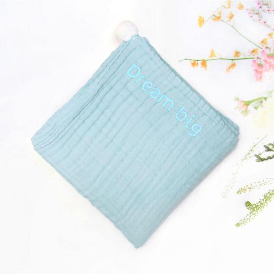 *Bestseller* Personalisable Keepsake Baby Blanket in Cloud Blue