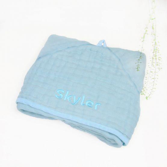 *Bestseller* Personalisable Bath Cape in Cloud Blue