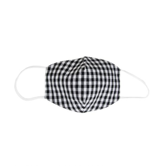 Personalisable Reusable Kids & Adult Mask in Black Gingham