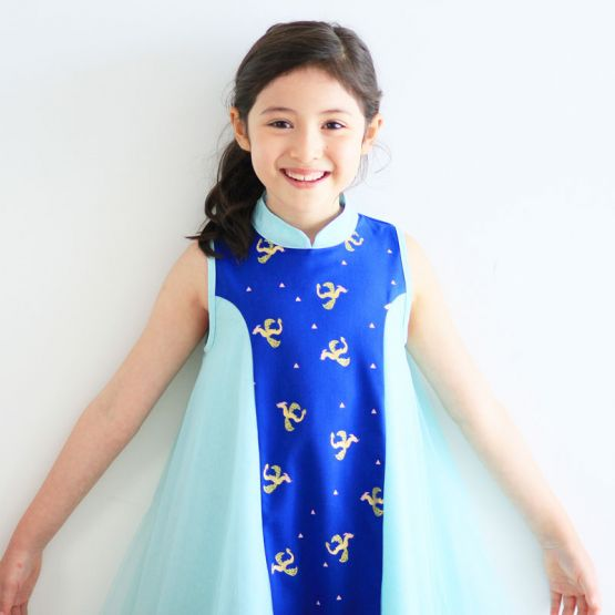 Dragon Series - Girls Dress with Tulle
