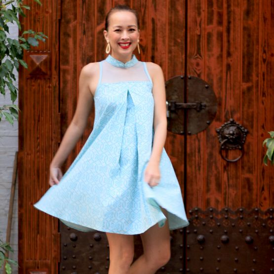 Chinese Knots Series - Ladies Dress in Blue