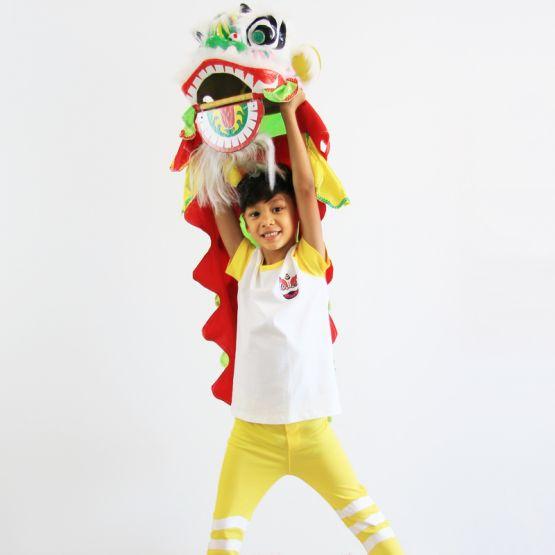 Lion Dance Series - Kids Jersey Set in Yellow