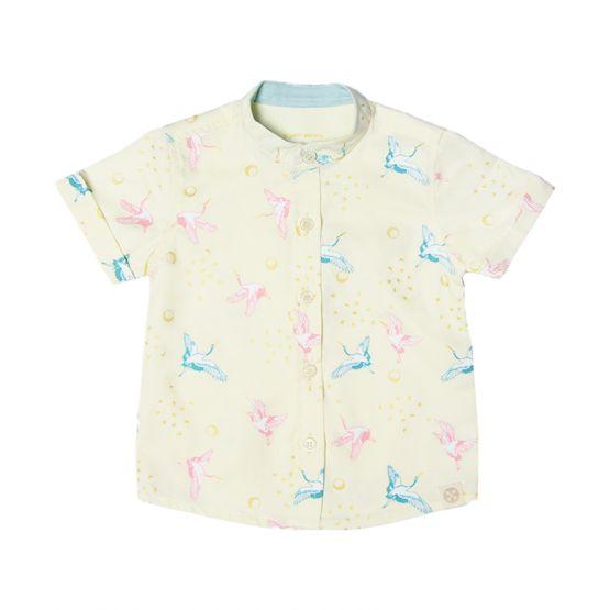 Crane Series - Boys Shirt in Cream