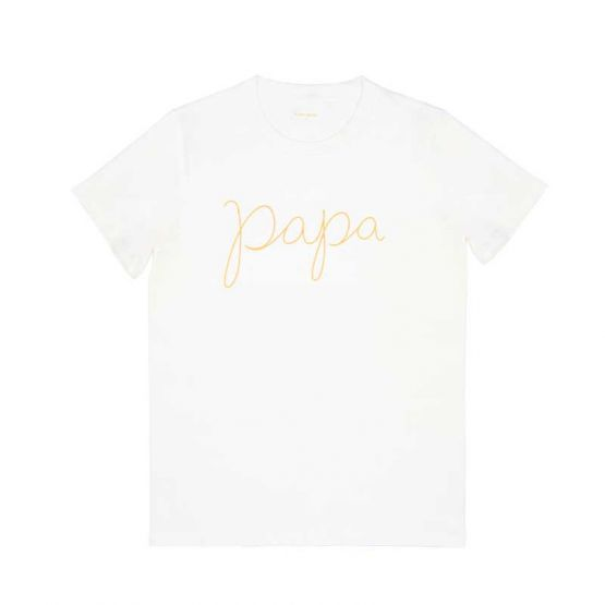 *Bestseller* Papa Tee in White/Gold