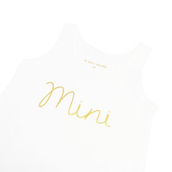 *Bestseller* Mini Sleeveless Romper in White/Gold