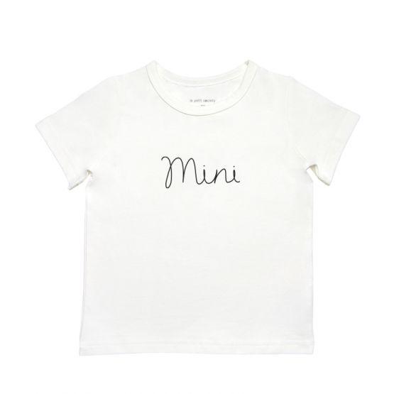*Bestseller* Mini Kids Tee in White/Black