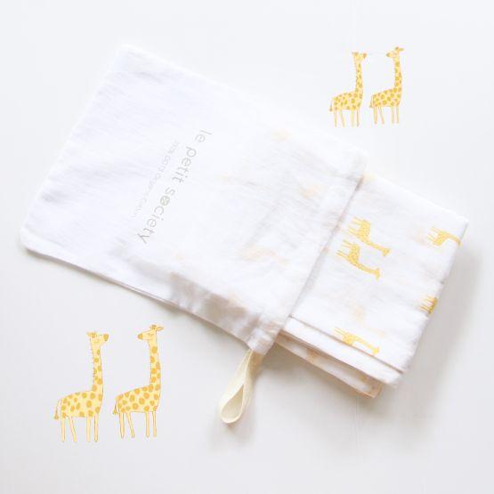 *Bestseller* Organic Muslin Swaddle - Giraffe