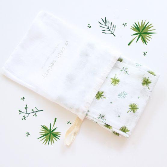 *Bestseller* Organic Muslin Swaddle - Palms