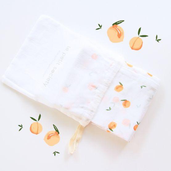 *Bestseller* Organic Muslin Swaddle - Peach