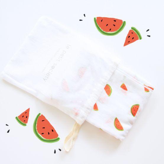 *Bestseller* Organic Muslin Swaddle - Watermelon