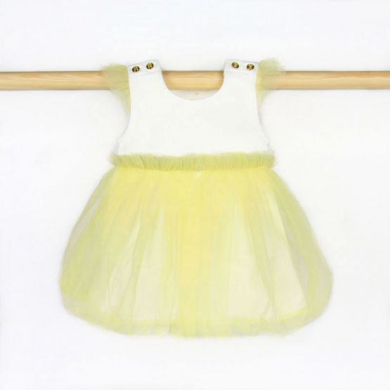 Rainbow Series - Baby Bubble Dress in Yellow