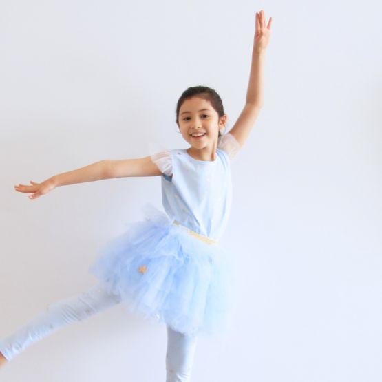 Ballerina Series - Cascading Tulle Skirt in Blue