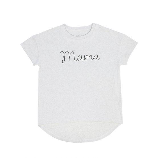 *Bestseller* Mama Tee in Melange Grey