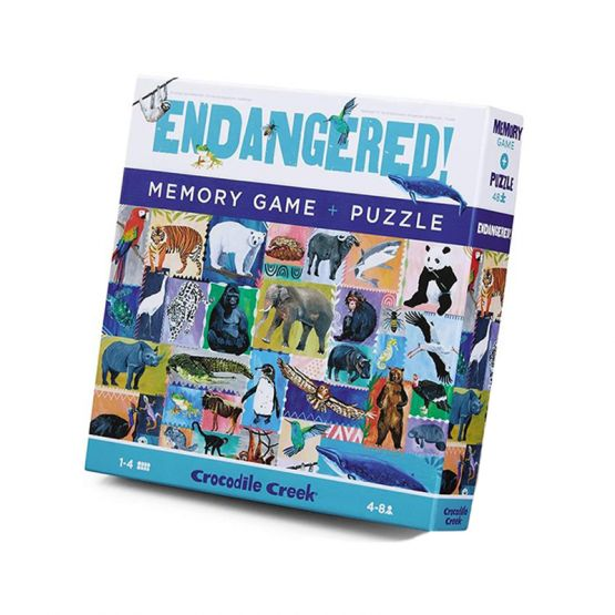 *New* Memory Game & Puzzle - Endangered by Crocodile Creek