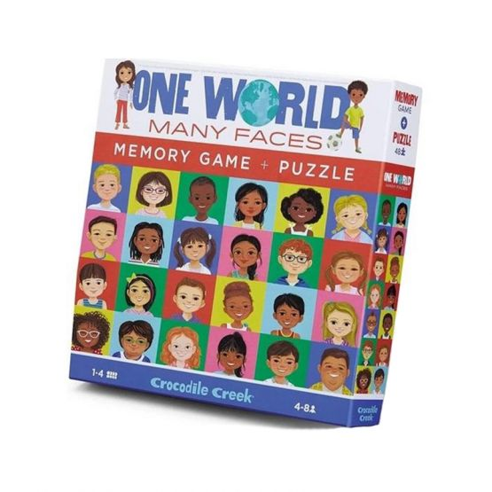 *New* Memory Game & Puzzle - One World by Crocodile Creek