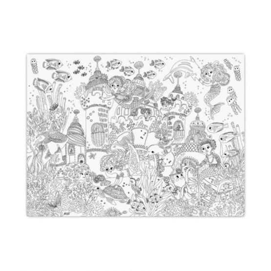 *New* Giant Coloring Poster - Mermaid Palace by Crocodile Creek