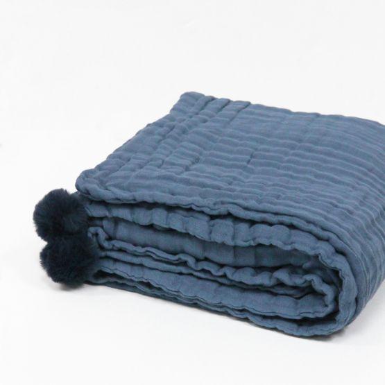 *New* Personalisable Keepsake Kids/Adult Single Blanket in Navy