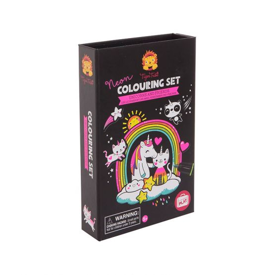 Neon Colouring Set - Unicorn and Friends by Tiger Tribe