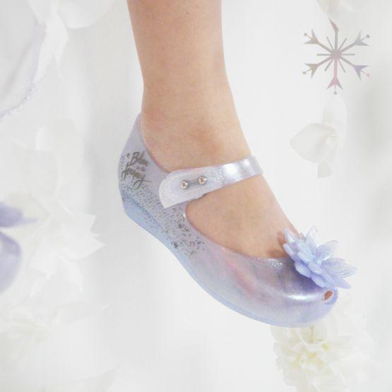 Mini Melissa Ultragirl + Frozen Shoes in Pearl Clear Glitter by Melissa