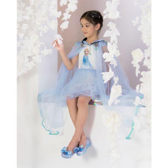 Mel Ultragirl + Frozen Shoes in Blue Clear Glitter by Melissa