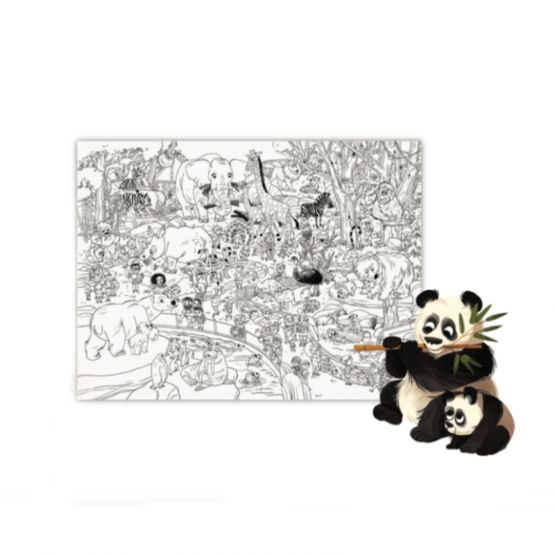 *New* Giant Coloring Poster - Zoo by Crocodile Creek