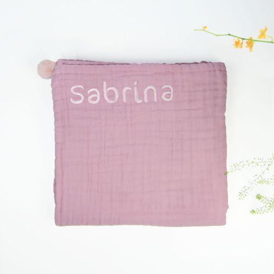 *Bestseller* Personalisable Keepsake Baby Blanket in Dusty Pink