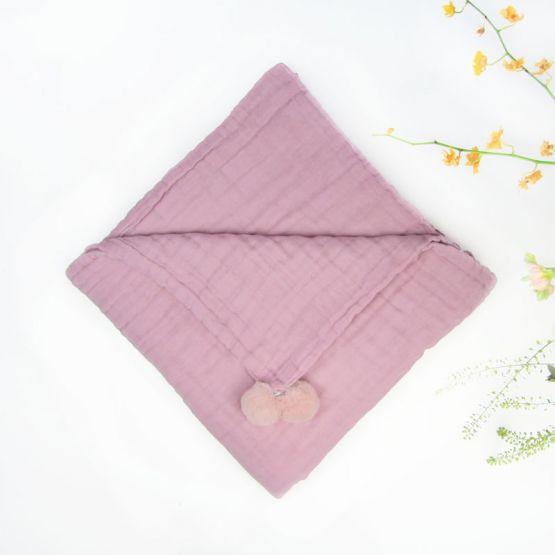 *Bestseller* Personalisable Keepsake Kids/Adult Single Blanket in Dusty Pink