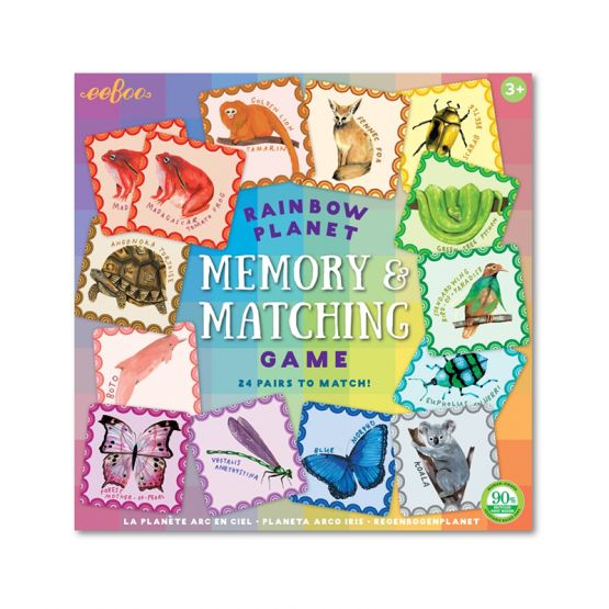 Rainbow Planet Memory Matching Game by eeBoo