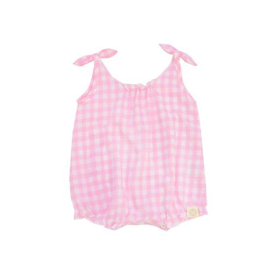 *New* Resort Series - Baby Girl Romper in Pink Gingham