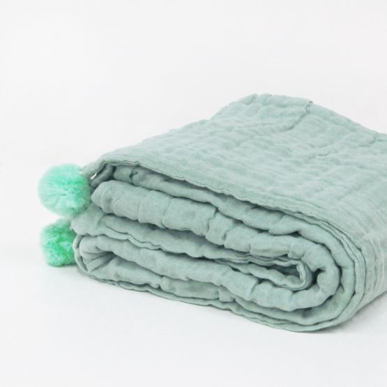 *New* Personalisable Keepsake Kids/Adult Single Blanket in Seafoam