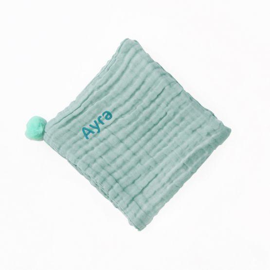 *Bestseller* Personalisable Keepsake Baby Blanket in Seafoam