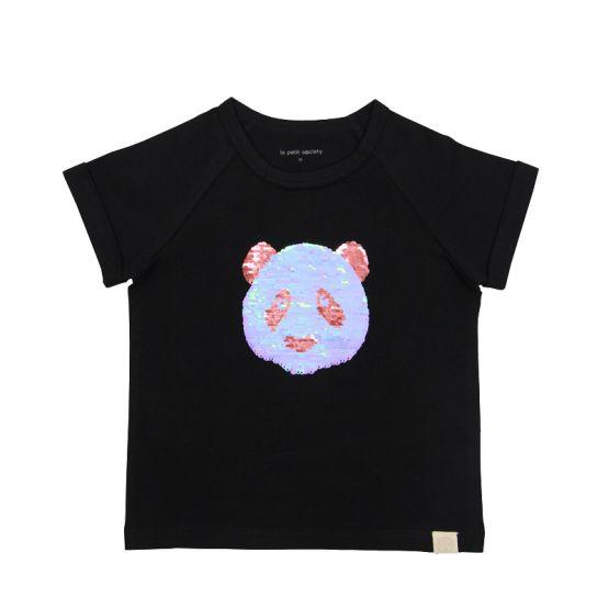 Kids Panda Reversible-Sequins Tee