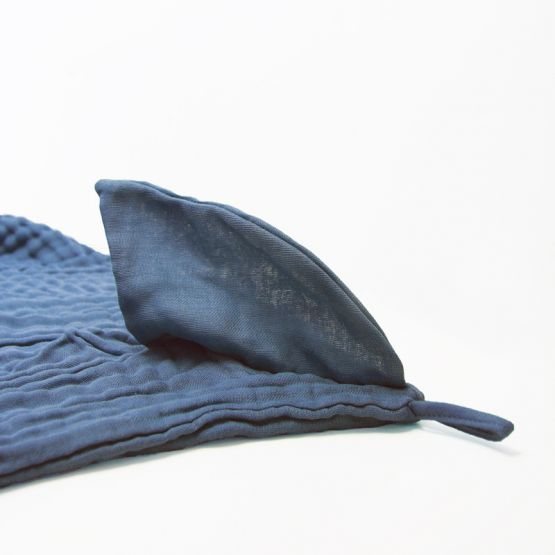 *New* Personalisable Bath Cape - Shark (Navy)