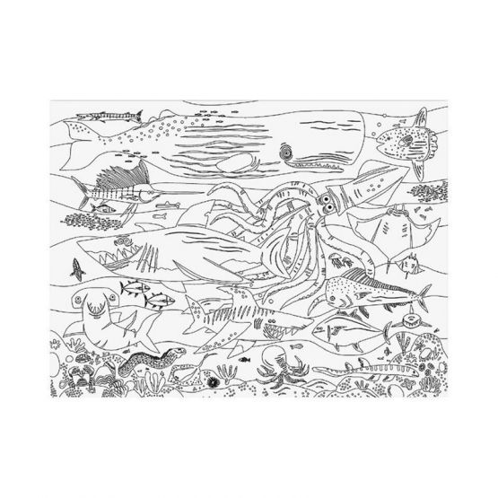 *New* Giant Coloring Poster - Shark Reef by Crocodile Creek