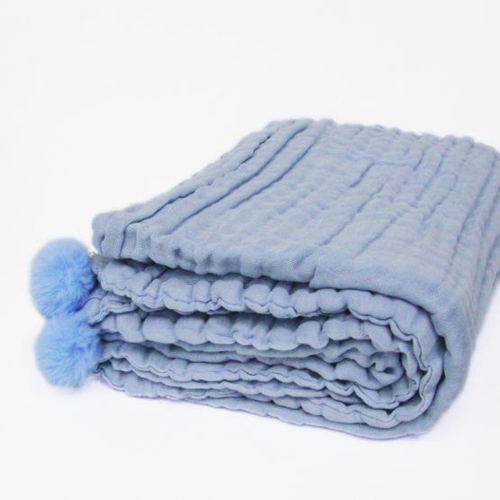 *Bestseller* Personalisable Keepsake Kids/Adult Single Blanket in Baby Blue