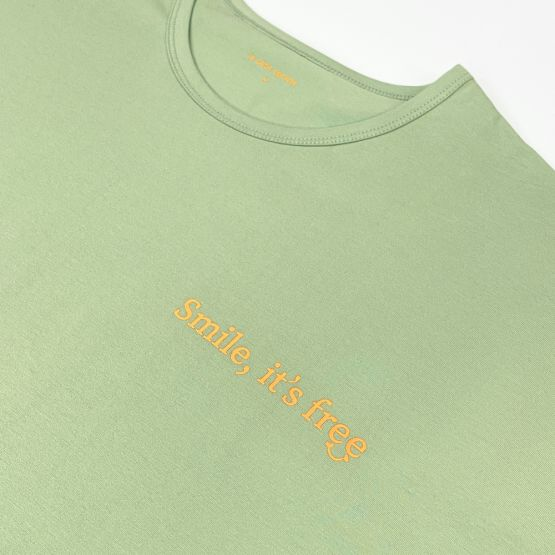 """*New* Made For Play - Adult """"Smile It's Free"""" Boxy Tee (Unisex)"""