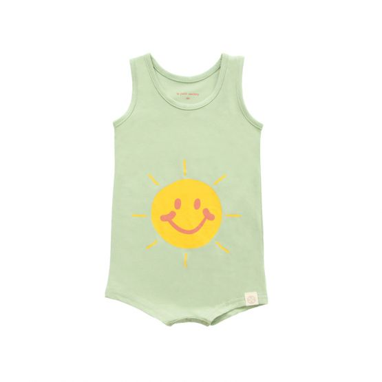 *New* Made For Play - Baby Smiley Romper in Green