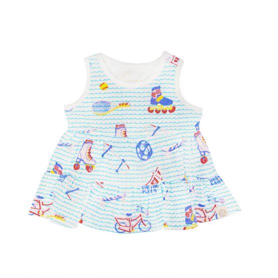 *New* Made For Play - Baby Girl Dress in Sporty Print